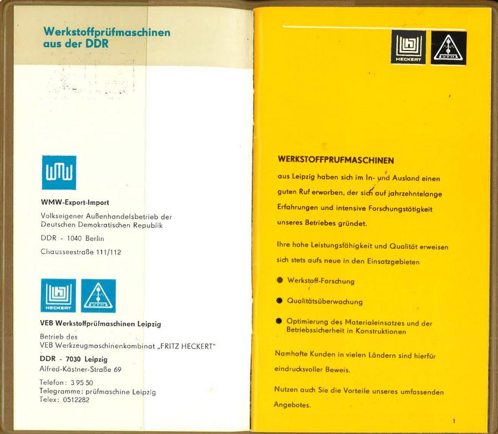 """Liquidierung der Firma """"Schirmer, Richter und Co.""""; Weiterführung als VEB Werkstoffprüfmaschinen, Betriebsteil Werk II"""